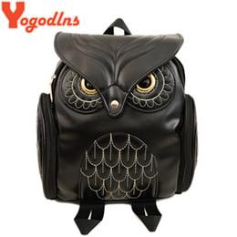 2436a9a0b55e Fashion Women Backpack Newest Stylish Cool Black PU Leather Owl Backpack  Female Hot Sale Women shoulder bag school bags 171107