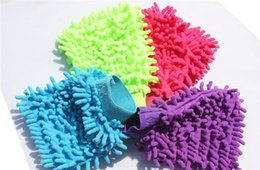 Chenille Towels Wholesale Australia - Car Hand Soft Cleaning Towel Microfiber Chenille Washing Gloves Coral Fleece Anthozoan Car Sponge Wash Cloth Car Care Cleaning 10pcs17110612