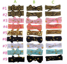 Style D'arc De Cheveux Pour Enfants Pas Cher-Free ups ship 2016 New Popular Style Baby Headband Bay Girl Accessoires pour cheveux Baby Knot Headband Kids Bow Headbands Children Hair Bands Kids