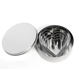 Chinese  Cookie Cutter 6Pcs set Stainless Steel Heart Fruit Molds Biscuit Mould Fondant Cutting Pastry Cutters ZA5172 manufacturers