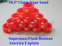 Hero Bands Canada - 100pcs lot super hero series vape bands, vapor band for mod or oil bottle e cigs tank mod custom silicone vape band