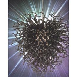 G4 Energy Saving Bulb Australia - Longree Holiday Party Home Decoration Elegant Popular Black Glass Pendant Lamps Ceiling Light with Bulbs Handmade Pretty Droplight