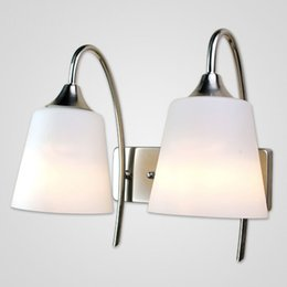 $enCountryForm.capitalKeyWord NZ - Creative White Frosted Glass Corridor Bathroom Wall Lights Bedroom Bedsides Wall Sconces Hallway Balcony Stair Wall Lamps
