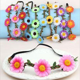 $enCountryForm.capitalKeyWord NZ - Sunflower Bride Bohemian Flower Headband Festival Wedding Floral Garland Hair Band Headwear Hair Accessories for Women