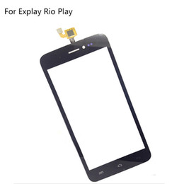 "Play Parts UK - Wholesale-For Explay Rio Play 5"" Touch Screen Digitizer Replacement Cell Phone Touch Glass Lens Sensor Screen Repair Parts Black Color"