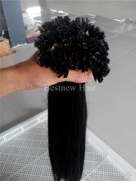 $enCountryForm.capitalKeyWord Canada - 100g 18inch-24inch 1g s Keratin U Tip Prebonded Hair Extensions Indian Remy Human Straight Hair