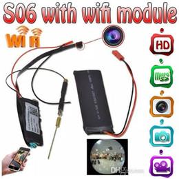Ingrosso Modulo Wireless WIFI S06 Camera HD 1080p Mini Scheda Modulo Videocamera P2P IP CCTV DVR Mini DV Home Security Telecamera Surveillace