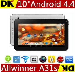 $enCountryForm.capitalKeyWord UK - Hot 10 inch A31S Quad Core Android 4.4 KitKat Tablet PC 1G .8G 16G With HDMI Bluetooth 1024*600 HD screen Allwinner A31S 1 pcs