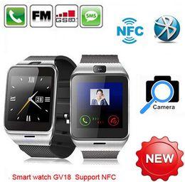 $enCountryForm.capitalKeyWord NZ - NFC Aplus GV18 Smart bluetooth watch with Camera bluetooth wristWatch SIM card Smartwatch for iPhone6 Android Phone PK DZ09 GV08