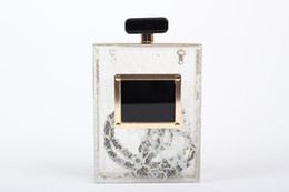 Wedding Branded Purses Canada - Wholesale-Brand Ladies Evening Acrylic Shoulder Bag Women Perfume Bottle Bag Transparent Clear Hard Clutch Purse Wedding Party Handbag