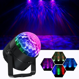 Wholesale Water Wave Stage Lights Ocean Water Wave Party Lights Projector Disco Crystal Ball Lighting With Remote controller for Home Room Dance Birth
