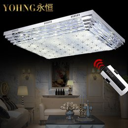 Wholesale Low Rectangular Crystal Lamp Led Ceiling Living Room Chandelier Bedroom Zhongshan Guzhen Lighting