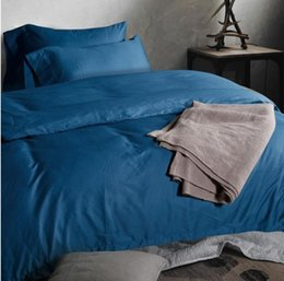 Bedding Sets Blue King Canada - Luxury 100% Egyptian cotton light blue bedding set king queen size quilt duvet cover bedsheets sheet bed in a bag bedspread bedsheet 2015