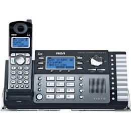 Оптовая продажа-RCA 25250RE1 2-Line DECT 6.0 беспроводной расширяемый телефон с цифровой автоответчик офис домашний телефон