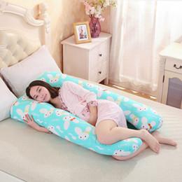 Cartoon Pregnant Women Canada - 130*70CM pregnancy Comfortable U shape Maternity pillows Body cartoon pregnancy pillow Women pregnant Side Sleepers cushion