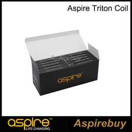 Authentic triton tAnk online shopping - Aspire Triton Coil Replacement Coil with Japanese Organic Cotton ohm RBA Coil For Aspire Triton Tank Authentic
