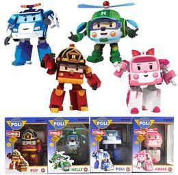 poli car toys 2019 - Hot Robocar poli deformation car bubble toys 4 styles police car fire truck ambulance service helicopter
