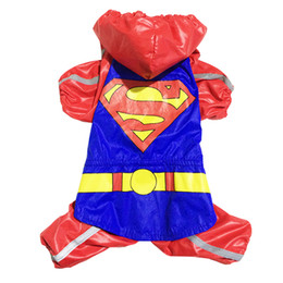 $enCountryForm.capitalKeyWord NZ - Free shipping!New Red Superman dog rain coat pet Jacket Windbreaker clothes,4 sizes available