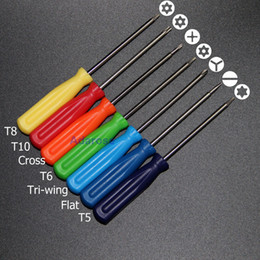cross screwdriver NZ - 7 Pieces Set Torx T5 T6 T8 T10 Cross Tri-wing Flat Shape Screwdriver Cell Phone Repair Tool Xbox 360 tool