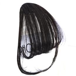 Vente en gros Short Synthétique Bangs Résistant À La Chaleur Synthétique Cheveux Femmes Naturel Court Faux Cheveux Bangs Femmes Morceaux De Cheveux