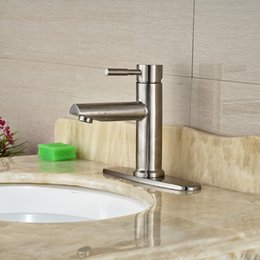 8 Inches Hole Cover Countertop Sink Mixer Taps One Hole Vessel Sink  Bathroom Faucet Brushed Nickel