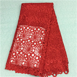 $enCountryForm.capitalKeyWord Canada - Gorgeous red african embroidery water soluble lace fabric with flower guipure lace cloth for party dress BW13-2,5yards pc