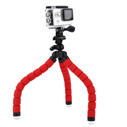 Wholesale Camera Tripods Flexible Sponge Octopus Tripod SHOOT Universal Tripod inch Rotation Desktop Handle Stabilizer for Phone Camera B