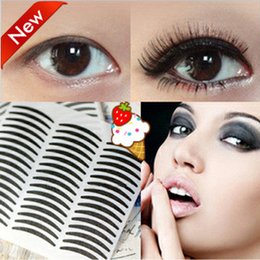 Black Eyelid Sticker Canada - Korean eyeliner stencil eyeliner sticker Paper black double eyelid sticker Eye Majic Invisible big eyes smoky eyes 48pcs maquiagem