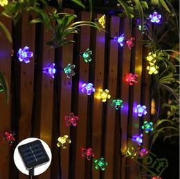 new arrivals 50leds peach flower solar powered led lamps super bright solar high power led christmas lighting lamps solar led string lights