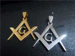 Masonic pendants gold online masonic pendants gold for sale masonic stainless steel pendant gold and silver set aloadofball Gallery