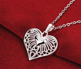 $enCountryForm.capitalKeyWord Canada - 2015 In November The new 10pcs lot 925 silver necklace Mrs girl Hollow heart pendant charm necklace