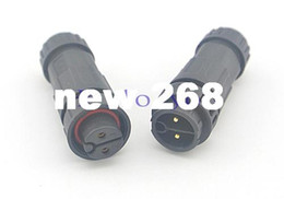 waterproof terminals NZ - 5 pcs lot M19 2 Pin LED Waterproof Connector Male Female Assembly Quick Connect Nylon Electrical Terminal Wire Connector