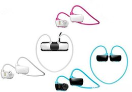 Mp3 Sport Water Canada - Free Shipping W273 Sports Mp3 player headset 8GB Wireless Sweat-band Walkman Running earphone Mp3 player headphone water-proof