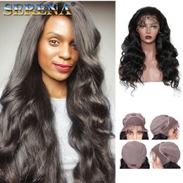 Discount body wave wig cap hairstyles - Popular Big Body Wave Human Hair Wigs Bleached Knots Full Lace Wigs Brazilian Malaysian Medium Size Swiss Lace Cap Lace