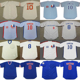 sale retailer cd622 e221b montreal expos 10 andre dawson white pinstripe throwback jersey
