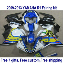 $enCountryForm.capitalKeyWord Canada - Free customize fairings set for YAMAHA YZF R1 2009-2011 2012 2013 YZF-R1 blue black yellow fairing body kit 09-13 HA37