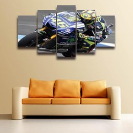 $enCountryForm.capitalKeyWord NZ - 5 Panel Canvas Wall Art Race Moto Painting HD Prints Motorcycle Modular Picture for Home Decoration Living Room Decorate Bedroom