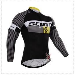 Großhandel scott Herbst oder Winter Fleece 2015 Team Radtrikots Fahrrad lange Ärmel Mountaion MTB Radfahren Jersey Bekleidung Shirts