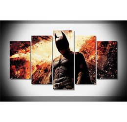 $enCountryForm.capitalKeyWord Canada - Batman ,5 Pieces Home Decor HD Printed Modern Art Painting on Canvas (Unframed Framed)