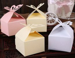 Barato Caixas Do Favor Doces Da Borboleta-100pcs Butterfly Wedding Party Baby Shower Favor Gift Gift Box Box 3 cores para escolher