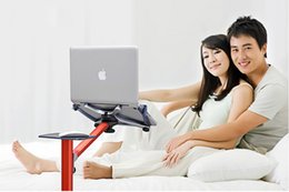 Rotating Tablet Stand NZ - Laptop Floor Stand Arm Rotating Laptop Stand Sofa Ergonomic Bed Aluminium Universal Support Voiture Tablet Laptop 360 Portable Stand