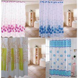 Discount Bathroom Plastic Curtains 2015 New Arrival Shower Curtain Peach  Blossom Leaves Fish Of Bathroom Curtain