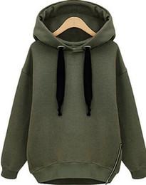 $enCountryForm.capitalKeyWord Canada - news sales cheap Arm Green New Winter Autumn Loose Hooded Jacket Plus Size Thick Velvet Long sleeve Sweatshirt Korean Style Hoodies