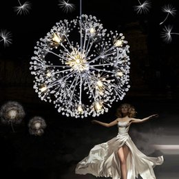 master bedroom chandelier 2019 - Droplight 47CM European Luxury Creative Dandelion LED Crystal Chandeliers Modern Minimalist K9 Crystal Pendant Lamp Livi