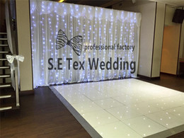 light color backgrounds NZ - Nice Looking 3m*6m Ice Silk Wedding Backdrop Curtain \ Stage Background With Led Light In White Color