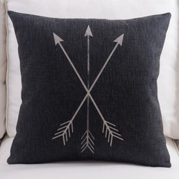 triangle pillow cases UK - Geometric Triangle Arrow Arrows Cushion Cover Nordic Minimalism Deer Stag Decorative Sofa Throw Pillows Covers Linen Cotton Pillow Case