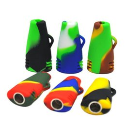 Multi Pipe NZ - New Arrival Design Colorfull Silicone Pipe Smoking Pipe Mini Dry Herb Water Hookah Multi Colors Portable Hand Tobacco Pipe