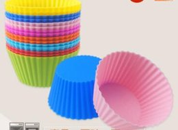 Cupcake Muffins Cake Canada - Silicone Baking Mold 7cm Cakes Molds Non-stick Muffin Snacks Gelatin Bakeware Cupcake Liner Baking Molds