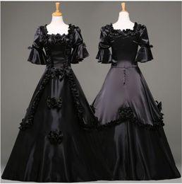 $enCountryForm.capitalKeyWord Canada - Retro Medieval Gothic Renaissance Gown Victorian Dress Punk Women Halloween Black Costume Fast Shipment High Quality