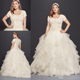 $enCountryForm.capitalKeyWord NZ - 2018 winter fall snow garden Ball gown wedding dresses scoop short sleeves Backless plus size vintage western country bridal wedding gowns